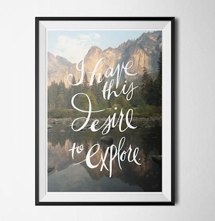Bilde av Konstgaraget Desire to explore poster