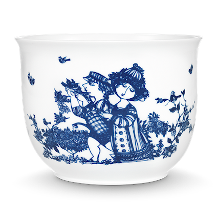 Bilde av Björn Wiinblad Krukke, Rosengarden, blå, H12 cm