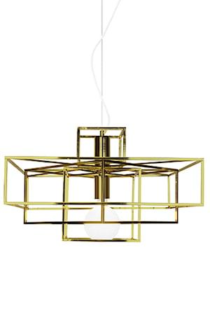 Bilde av Globen Lighting Pendel Cube Messing