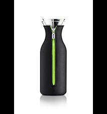 Kylskåpskaraff med lock och neopren black/lime 1,0 l