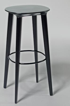 minus tio Audrey björk barstol - H78, svartbetsad björk