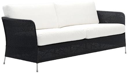 Sika Design Orion 3-sits soffa - Svart, exklusive dynor