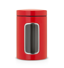 Förvaringsburk med fönster 1.4 Ltr Passion Red