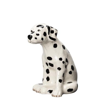 Skulptur Dalmatin Pongo Vit/Svart