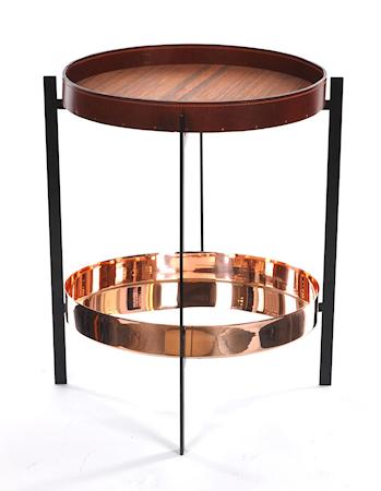 OX DENMARQ Deck sidobord - Leathertray/copper/black