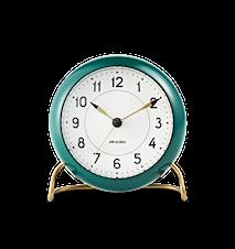 Arne Jacobsen Station bordsur, grön/vit, Ø 11 cm, alarmfunktion