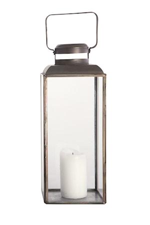 Ljuslykta Vintage 14x14x36 cm - Svart
