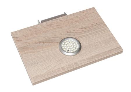 Hiipakka Black hyllplan med LED-belysning – Vitpigmenterad ek 2-set