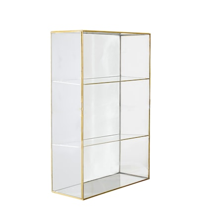 Lia Skåp Klar Glas Mässing 31x47cm