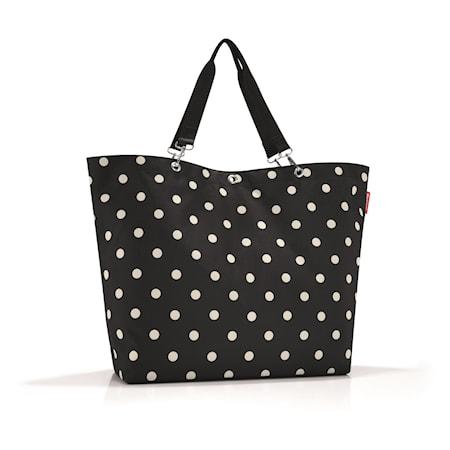 Shopping väska XL Svart med prickar 35 L