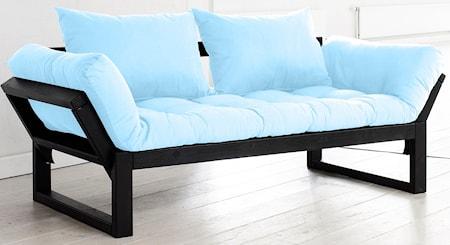 KARUP Edge soffa ? Svart/Ljusblå