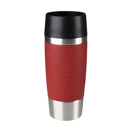 TRAVEL MUG 0.36L red sleeve