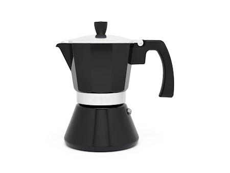 Tivoli espressokanna svart 6 koppar H18cm Bredemeijer