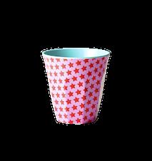 Melaminkopp Tvåtonad Stjärna Rosa/Röd