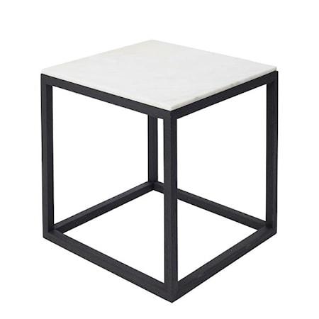 Kristina Dam Studio Cube Sidobord Medium Marmor – Svart