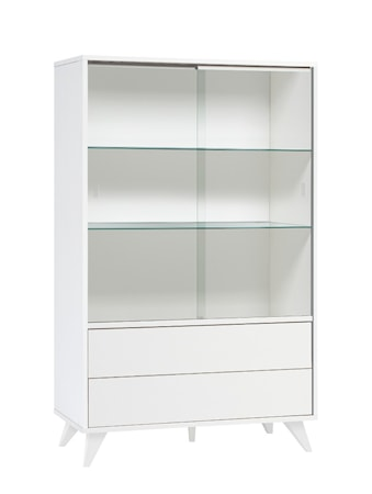 Hiipakka Viola vitrinskåp - Klart glas Vit