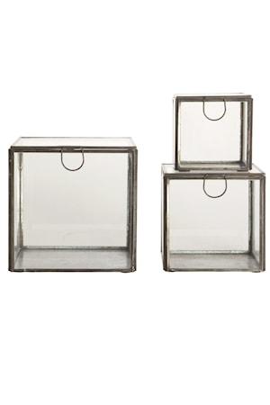 Förvaringsbox 3-pack - Antiksvart