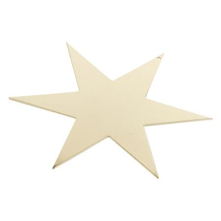 Stjärna 17cm, mässing