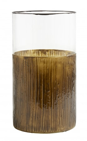 Ljusstake/Vas i Glas Henna 25cm