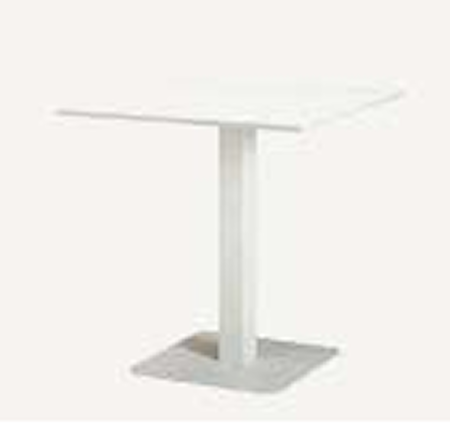 Ethimo Flower fixed table 70x70 - Vit