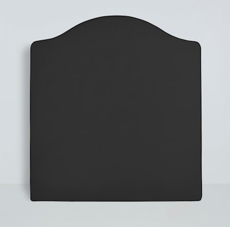 Mille Notti Carlita canvas sänggavel ? Mörkgrå 210x140