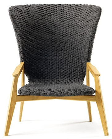 Ethimo Knit high back stol - Teak