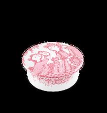 Dosa med lock, Narcisse, rosa, Ø 8 cm