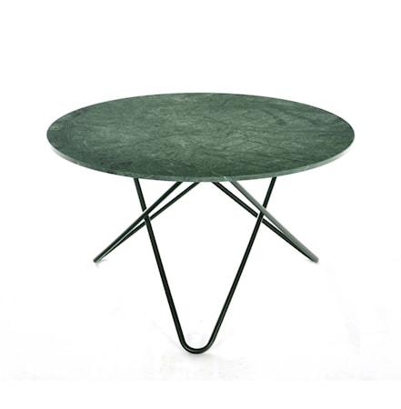 OX DENMARQ Big O table Matbord Green Indio/Svart Ø120 cm