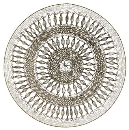 Väggdekoration Konst Cirkel Mässing