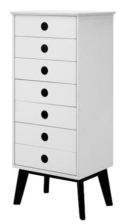 Falsterbo Century Byrå 7 lådor ask - vit/svart