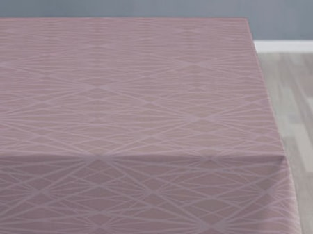 Södahl Pöytäliina 140x270 Diamond grid mauve