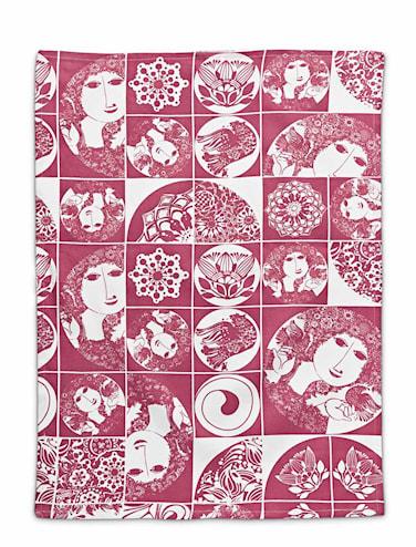 Kökshandduk, röd, 50x70 cm