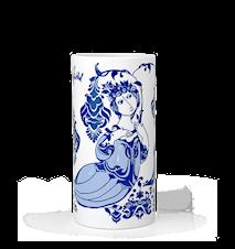 Vas, Lily, blå, H 18 cm, cylinder