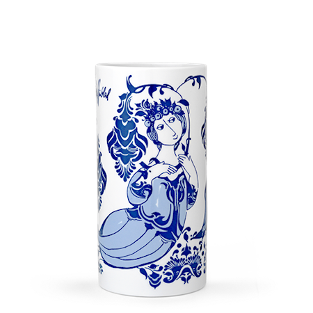 Bilde av Björn Wiinblad Vase, Lily, blå, H 18 cm, sylinder