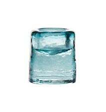 Ljuslykta Sarek 8cm aquablå