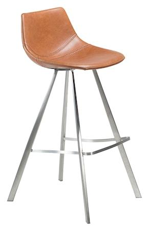 Dan Form Denmark Barstol Pitch Stålben - Vintage Ljusbrun
