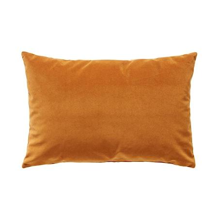 Kudde med fyllning Velour Orange 60x40 cm
