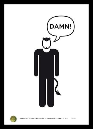 Bilde av TGIOC Damn black poster