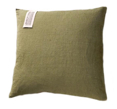 Lovely Linen by Kardelen Lovely linen kuddfodral – Jeep green