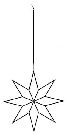 IRONY Hängande Dekoration Stjärna Svart L