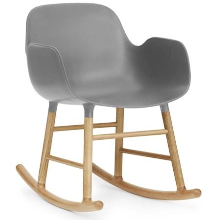 Normann Copenhagen Form rocking chair karmstol ek - Grey