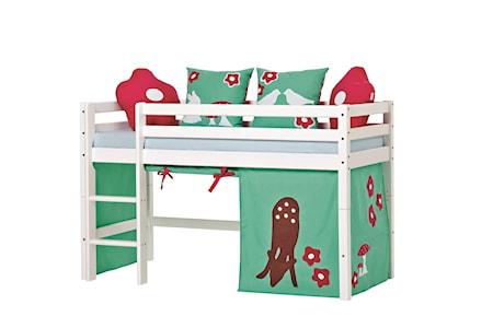 Hoppekids Basic loftsäng halvhög – Forest sängpaket