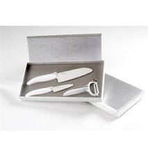 Keramiskt knivset med 2 st knivar & skalare