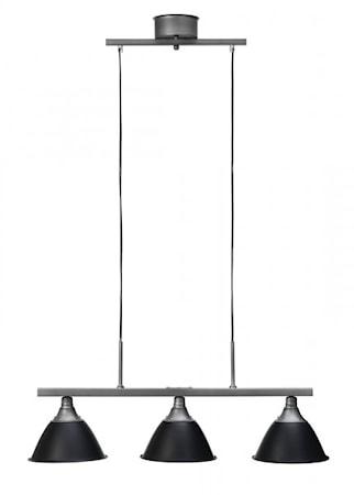 Bilde av Cottex Arn taklampe med, plateskjerm. Svart/ Jern