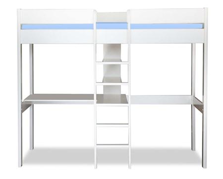 Stompa Uno høj Køjeseng med skrivebord – Hvid thumbnail