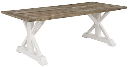 Artwood Elmwood wd matbord - 220x100