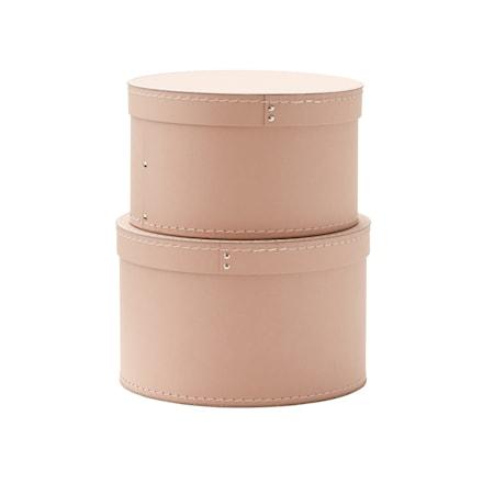 Kids Concept Förvaringsbox Rund 2-set rosa