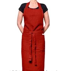 Förkläde Mira kitchen 100x107 mörkröd