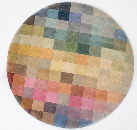 Palett rund matta