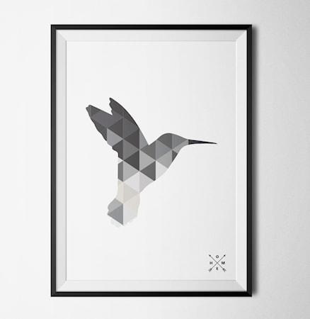 Bilde av Konstgaraget Hummingbird grey poster